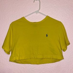 Yellow cropped polo vintage Frankie collective